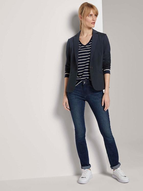 Alexa Slim Jeans - Frauen - Clean Dark Stone Blue Denim - 3 - TOM TAILOR