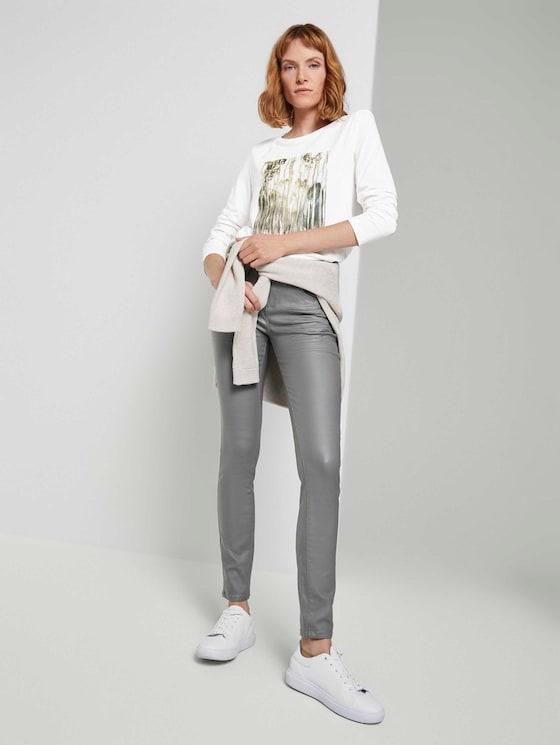 Alexa Skinny Stretch-Jeans - Frauen - greyish green - 3 - TOM TAILOR