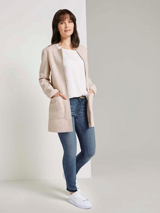 Alexa Skinny Jeans mit gefranstem Bein - Frauen - mid stone wash denim - 3 - TOM TAILOR