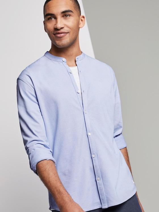 Strukturiertes Jersey-Hemd - Männer - light blue jersey structure - 5 - TOM TAILOR Denim