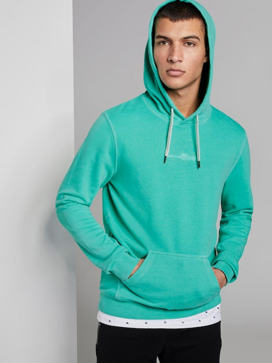 Bedrukte Hoodie - Mannen - spearmint green - 5 - TOM TAILOR Denim