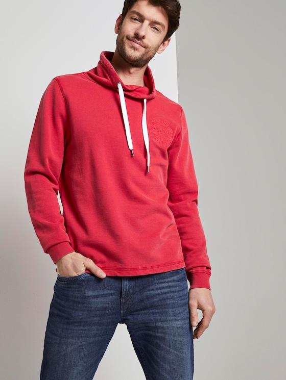 Snood mit Logo-Stickerei - Männer - brilliant red - 5 - TOM TAILOR
