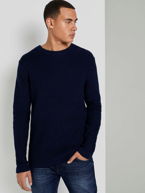 Schlichter Pullover - Männer - Sky Captain Blue - 5 - TOM TAILOR Denim