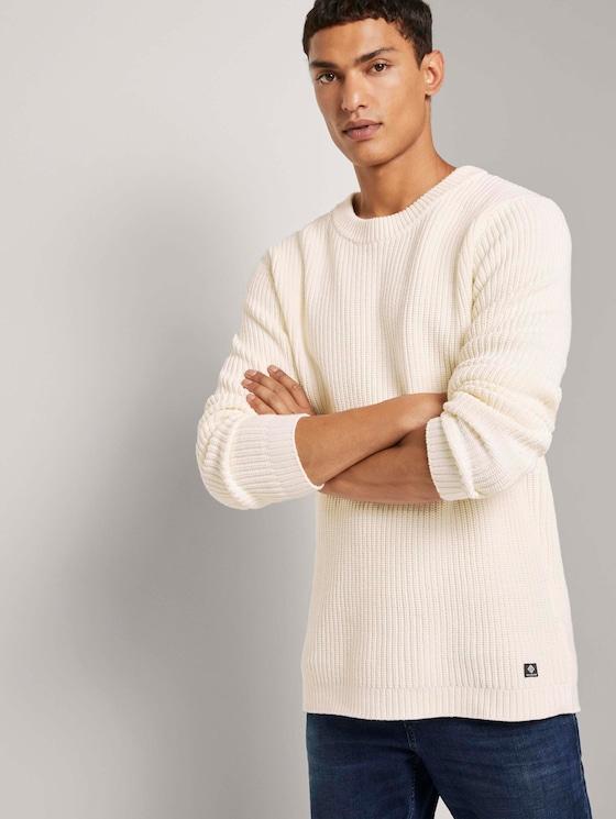 Schlichter Pullover - Männer - Wool White - 5 - TOM TAILOR Denim