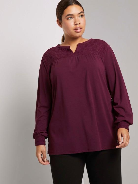 Verspieltes Blusenshirt mit Struktureinsatz - Frauen - Gipsy Purple - 5 - My True Me