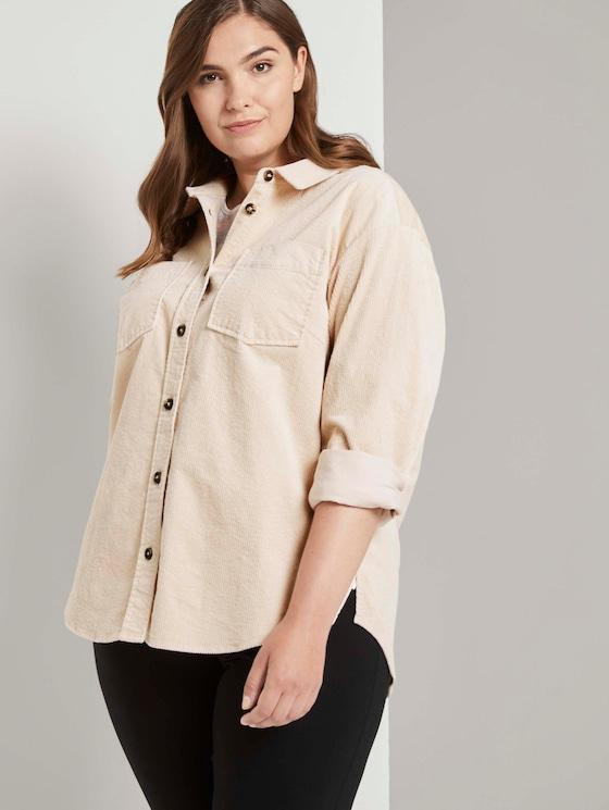 Curvy - Cord-Hemd mit Brusttaschen - Frauen - warm sand beige - 5 - My True Me