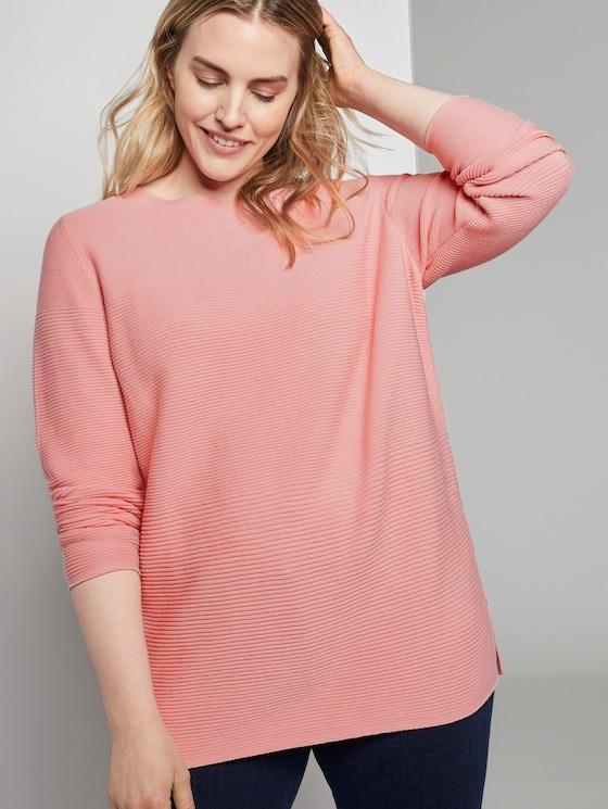 Weicher Ottoman Pullover - Frauen - bubble gum pink - 5 - My True Me