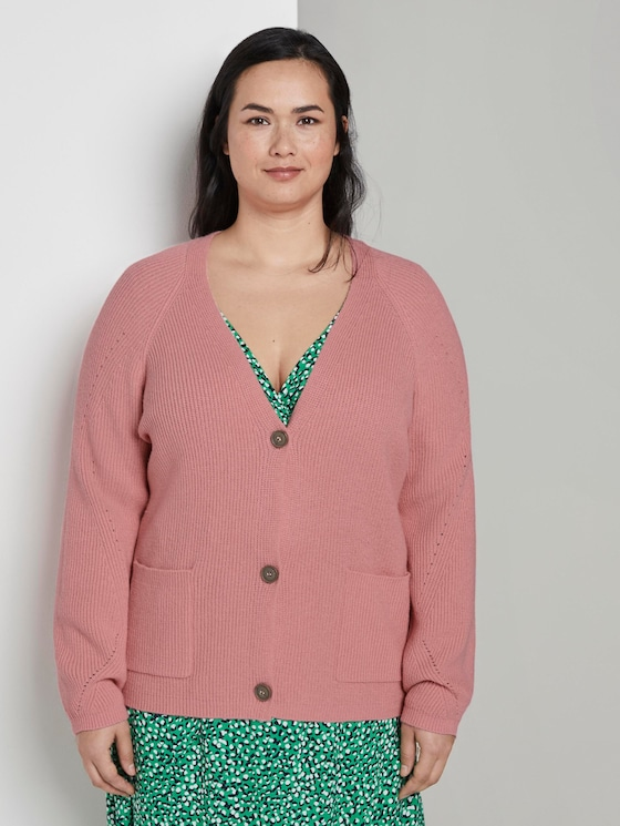 Short cardigan with a knitted pattern (Rose) - from page ...