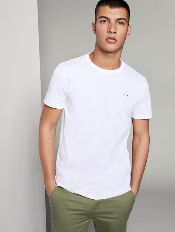 Basic T-Shirt aus speziellem Jersey - Männer - White - 5 - TOM TAILOR Denim