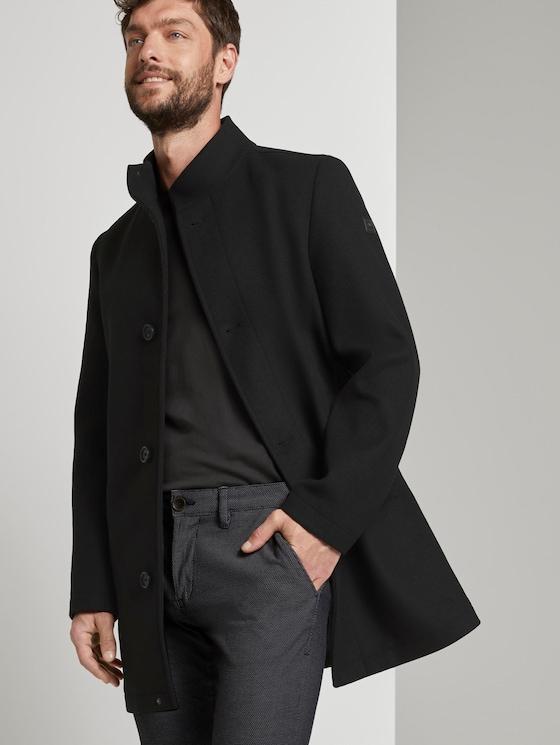 Moderner Mantel mit Stehkragen - Männer - Black - 5 - TOM TAILOR