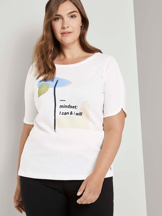 T-Shirt mit Artwork - Frauen - Whisper White - 5 - My True Me