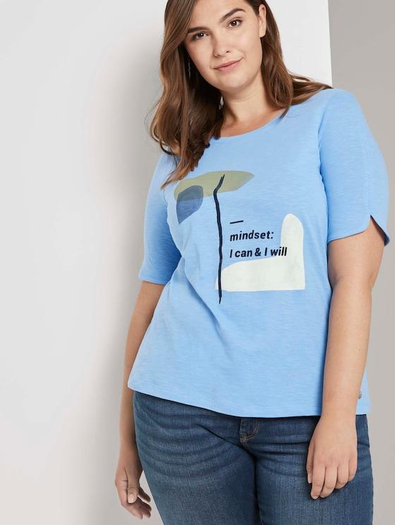 T-shirt met artwork - Vrouwen - sea blue - 5 - My True Me