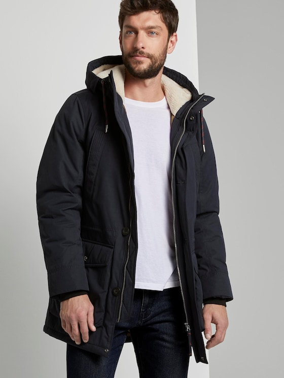 Parka mit Kapuze - Männer - Sky Captain Blue - 5 - TOM TAILOR