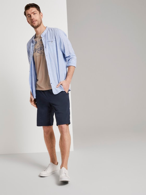 Morris Relaxed Chino-Shorts mit elastischem Bund - Männer - Sky Captain Blue - 3 - TOM TAILOR