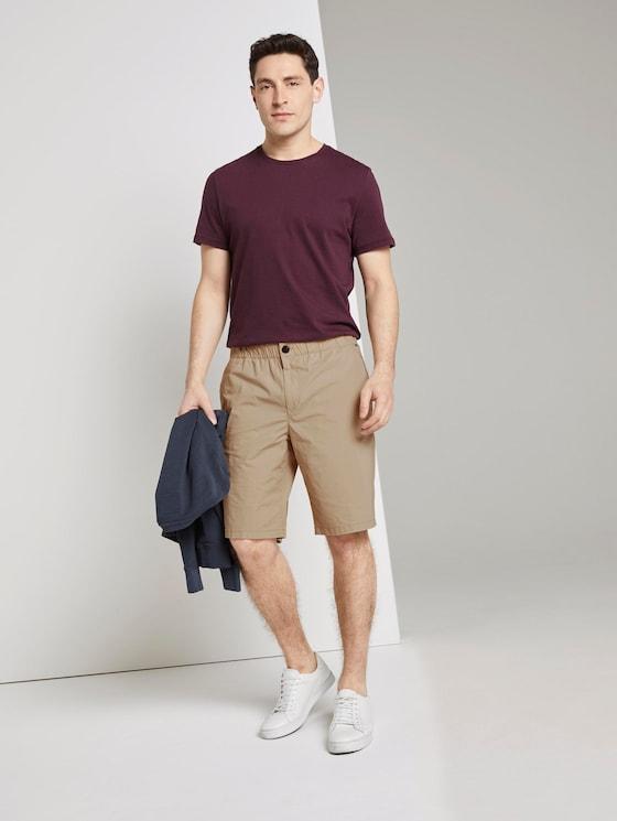 Morris Relaxed Chino-Shorts mit elastischem Bund - Männer - Silver Ecru - 3 - TOM TAILOR