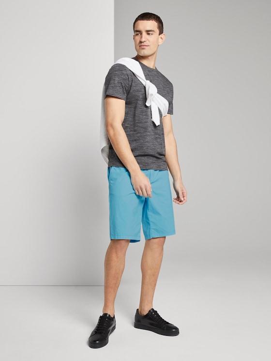 Morris Relaxed Chino-Shorts mit elastischem Bund - Männer - crystal sea blue - 3 - TOM TAILOR