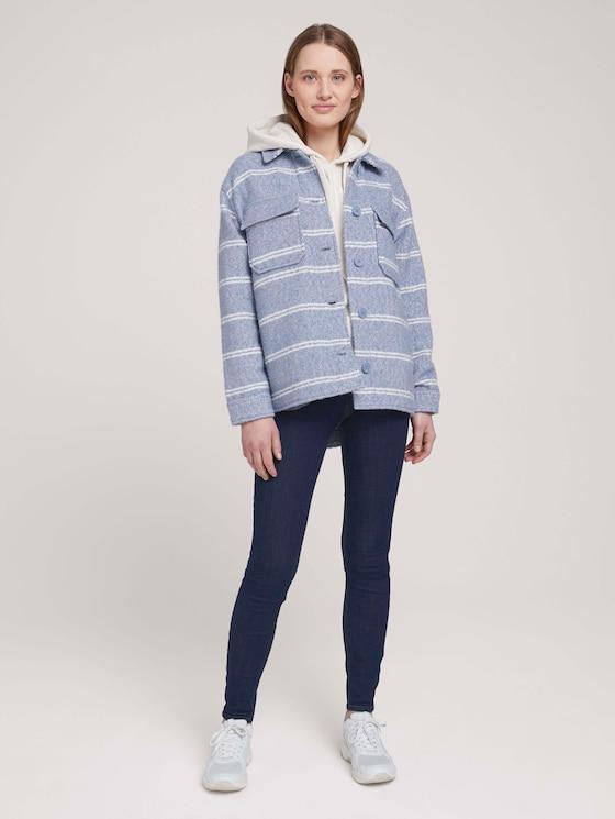 Janna Extra Skinny Jeans mit Bio-Baumwolle  - Frauen - Used Dark Stone Blue Denim - 3 - TOM TAILOR Denim