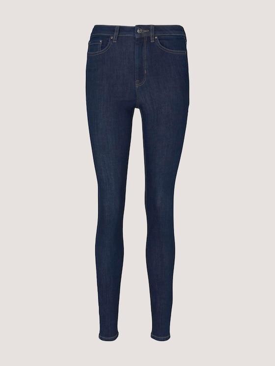 Janna Extra Skinny Jeans mit Bio-Baumwolle  - Frauen - Used Dark Stone Blue Denim - 7 - TOM TAILOR Denim