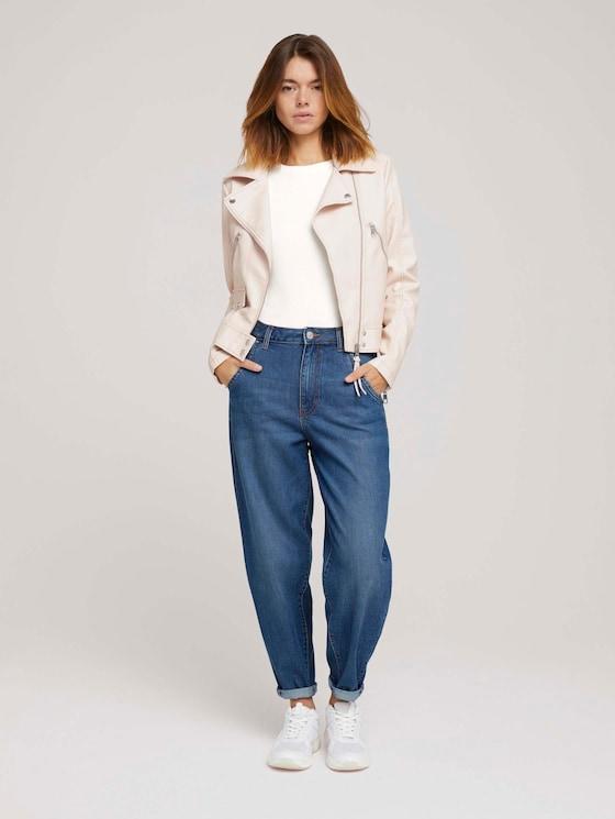 Barrel Mom Vintage Jeans mit TENCEL™ - Frauen - Used Mid Stone Blue Denim - 3 - TOM TAILOR Denim