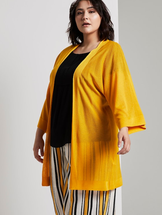Lockerer Kimono-Cardigan - Frauen - deep golden yellow - 5 - My True Me