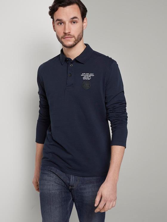 Poloshirt mit Logo-Print - Männer - Sky Captain Blue - 5 - TOM TAILOR