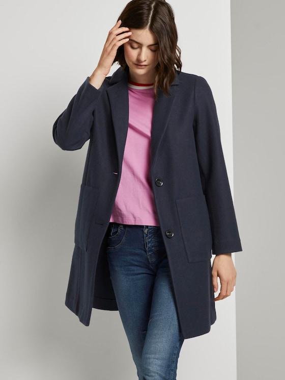 Blazer-Mantel aus Fleece - Frauen - Sky Captain Blue - 5 - TOM TAILOR Denim