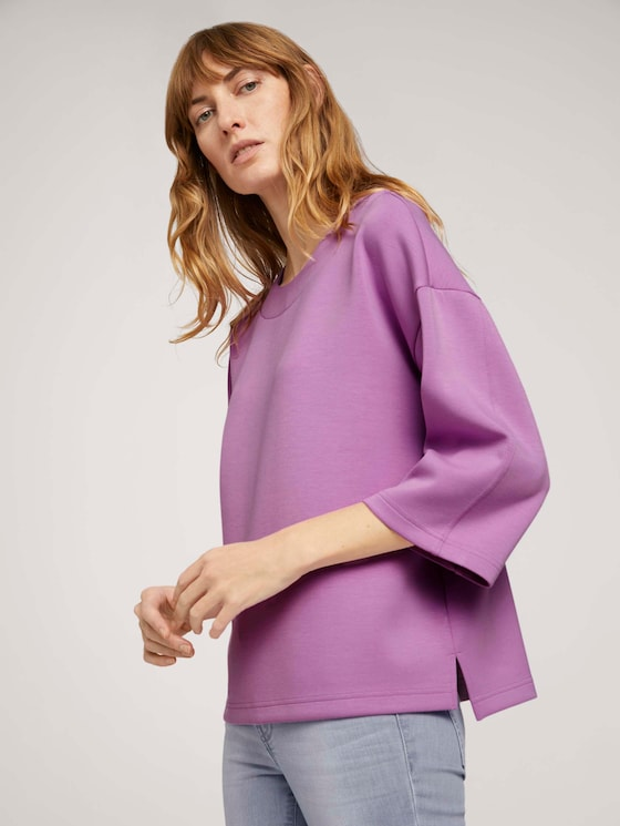 Basic Loose Fit Sweatshirt - Frauen - heather lilac - 5 - TOM TAILOR