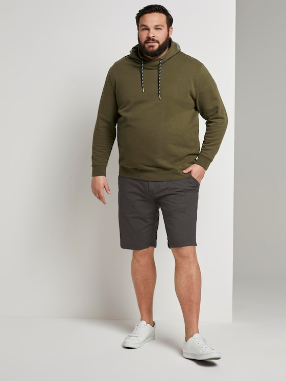 Gemusterte Josh Regular Slim Bermuda-Shorts - Männer - dark grey tonal minimal design - 3 - Men Plus