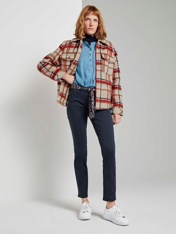 Alexa Slim Jeans mit Bindegürtel - Frauen - Sky Captain Blue - 3 - TOM TAILOR