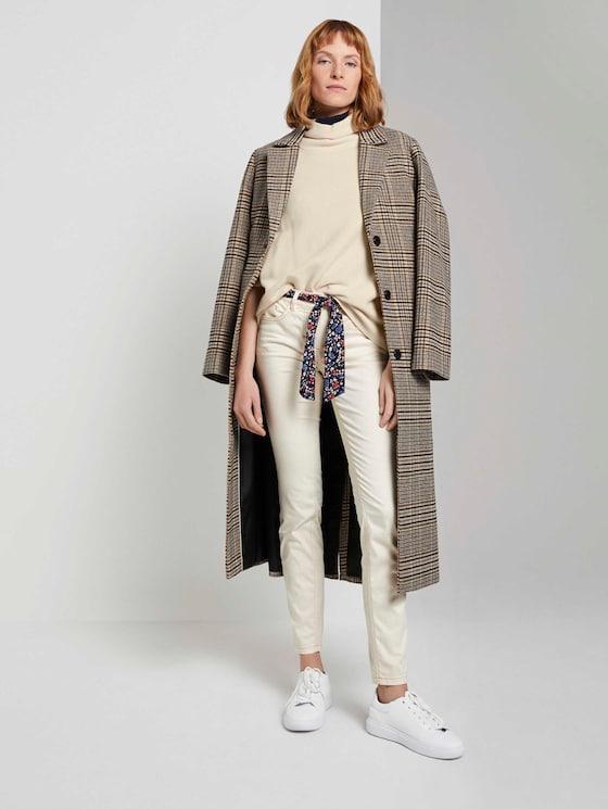 Alexa Slim Jeans mit Bindegürtel - Frauen - warm sand beige - 3 - TOM TAILOR