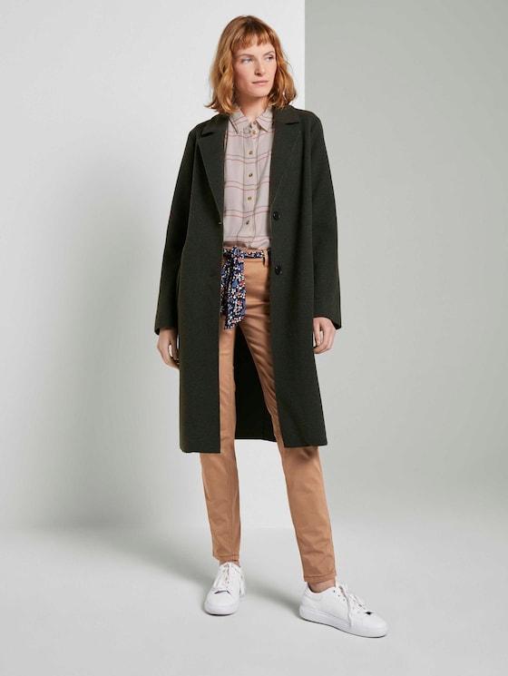 Alexa Slim Jeans mit Bindegürtel - Frauen - light chestnut - 3 - TOM TAILOR
