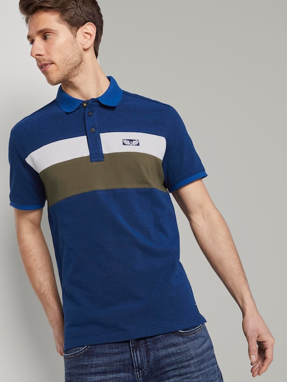 Poloshirt im Colorblocking-Look - Männer - Black Iris Blue - 5 - TOM TAILOR