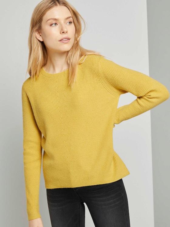 Strukturierter Pullover - Frauen - california sand melange - 5 - TOM TAILOR