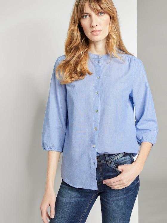 3/4 Arm Bluse mit Muster - Frauen - light blue horizontal stripe - 5 - TOM TAILOR