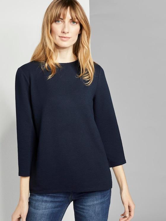 Basic 3/4 Arm Shirt - Frauen - Sky Captain Blue - 5 - TOM TAILOR
