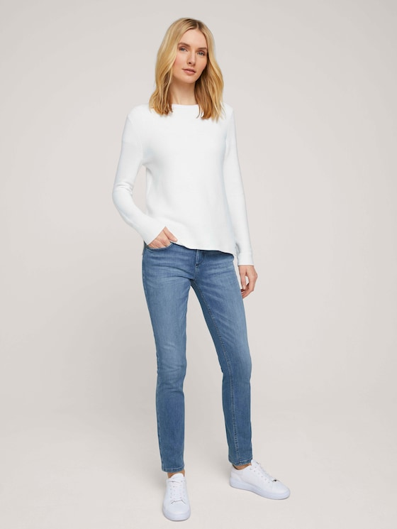 Alexa Slim Jeans aus Bio-Baumwolle - Frauen - light stone bright blue denim - 3 - TOM TAILOR