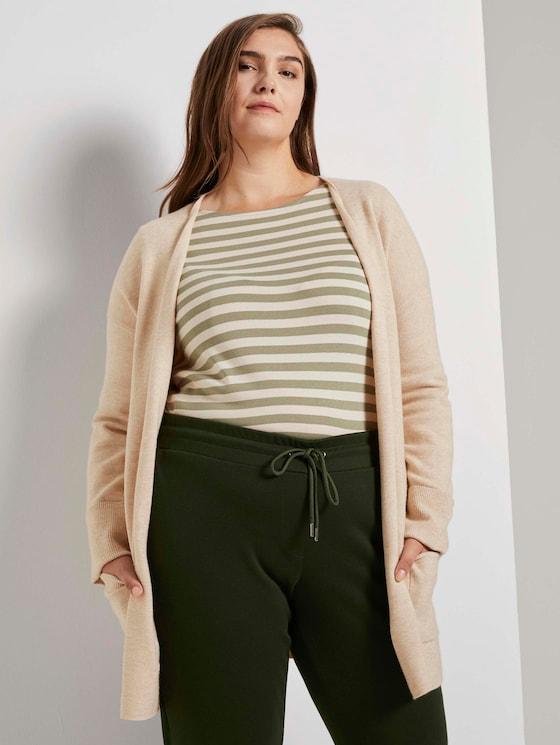Cardigan mit strukturierter Oberfläche - Frauen - sand dune melange - 5 - My True Me