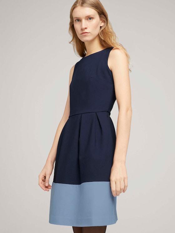 Kleid mit Colour Blocking - Frauen - Sky Captain Blue - 5 - TOM TAILOR