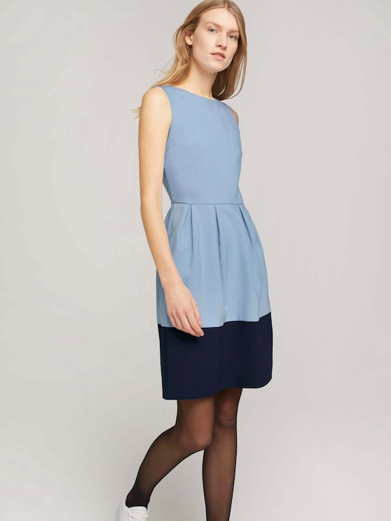 Kleid mit Colour Blocking - Frauen - dreamy blue - 5 - TOM TAILOR