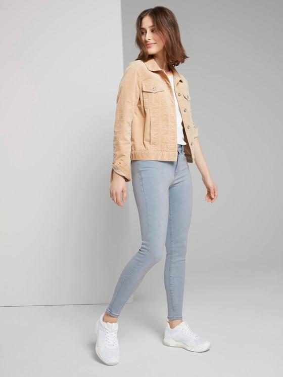 Nela Extra Skinny Jeans - Frauen - Used Light Stone Blue Denim - 3 - TOM TAILOR Denim