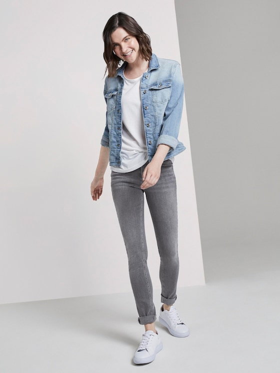Alexa Skinny - Frauen - clean light stone grey denim - 3 - TOM TAILOR