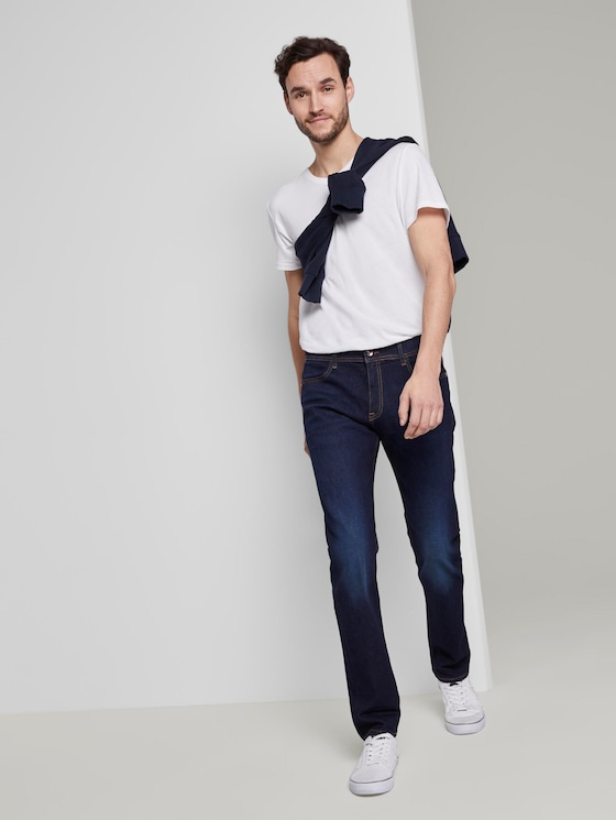 Troy Slim Jeans - Männer - Rinsed Blue Denim - 3 - TOM TAILOR