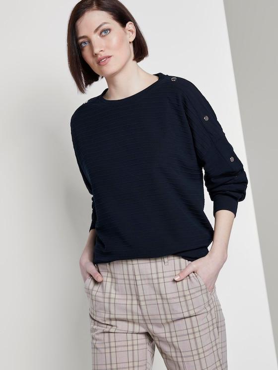 Sweater mit Knöpfen - Frauen - Real Navy Blue - 5 - TOM TAILOR Denim