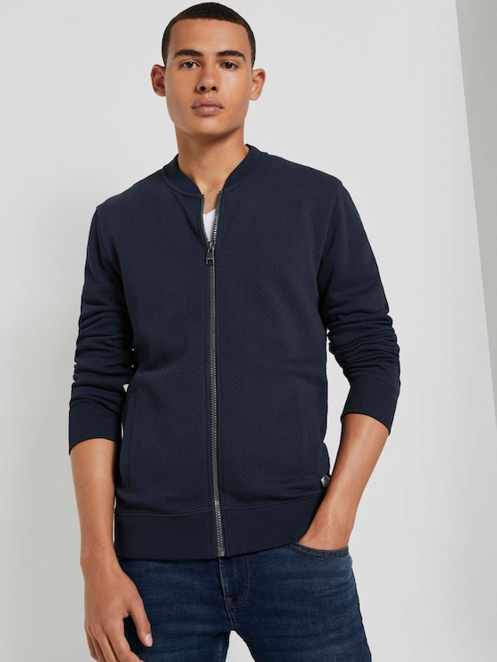 Strukturierte Bomberjacke - Männer - Sky Captain Blue - 5 - TOM TAILOR Denim