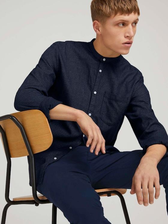 Hemd mit Waffelstruktur - Männer - blue grindle waffle - 5 - TOM TAILOR Denim