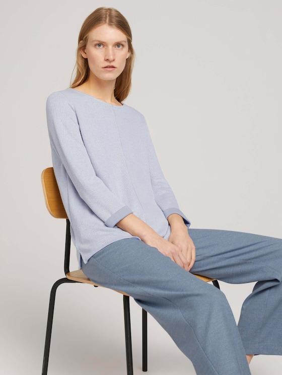 Sweatshirt mit melierter Innenseite - Frauen - comfort grey melange - 5 - TOM TAILOR