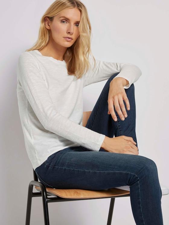 Langarmshirt aus Organic Cotton - Frauen - Whisper White - 5 - TOM TAILOR