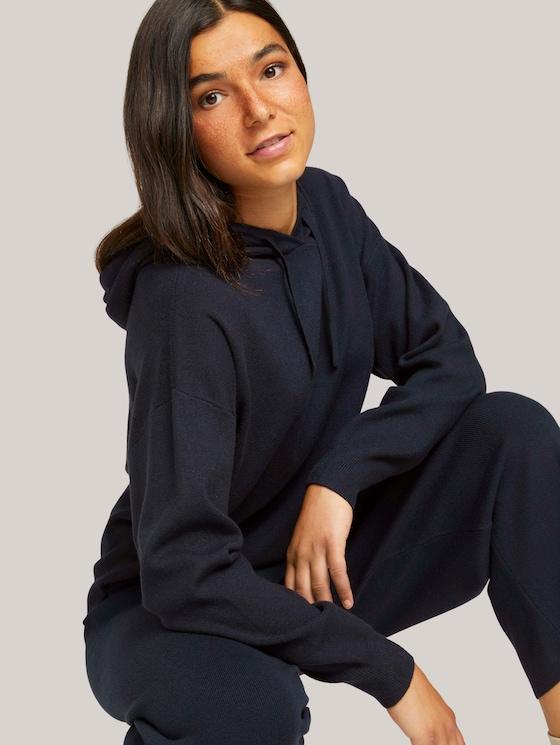 Hoodie with deep sleeve seams - Women - Sky Captain Blue - 5 - TOM TAILOR Denim