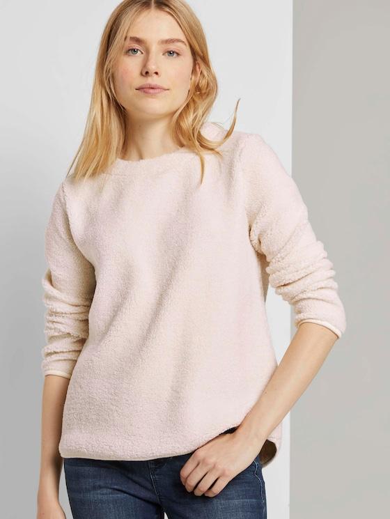 Sweater aus Teddyfell - Frauen - soft powder beige - 5 - TOM TAILOR