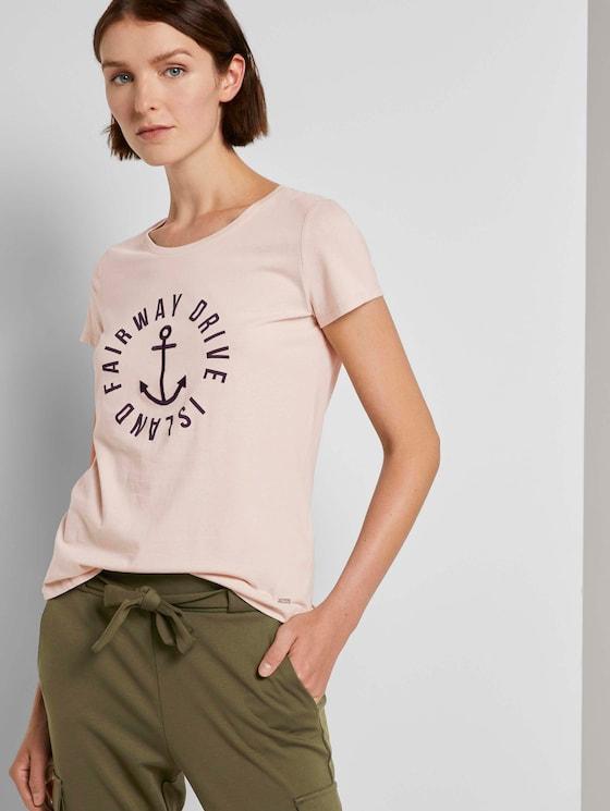Embroidered T-shirt - Women - soft beige - 5 - TOM TAILOR Denim